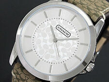 NWT Coach Womens Watch Stainless BROWN Classic Logo Signature 38MM 14601506 $195
