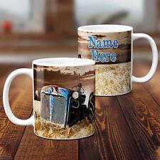 Personalised Tractor Mug Farmer Cup Farm Birthday Fathers Day Custom Text Gift