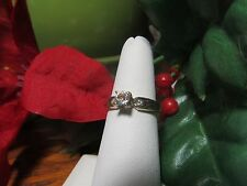 Unique Gold Plated Womens Girls CZ Fashion Cocktail Ring Sz 6