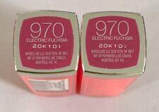 (2) Maybelline Couleur Sensationnelle Rouge à Lèvres, 970 Électrique Fuchsia