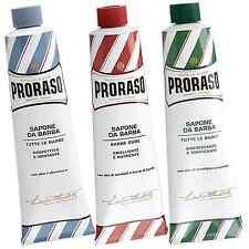 Triple Selection Pack - Proraso shaving cream green/blue/red 150ml tube