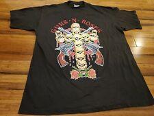 Rare Vintage BROCKUM Guns N Roses Use Your Illusion 1991 T Shirt 90s U.S dates