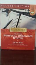 DayTimer Personal Organizer System Desk Size, Black Leather, Excellent, Preowned