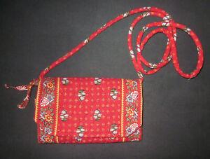 VERA BRADLEY All in One Crossbody Bag Purse Wallet Multi Pockets Long Strap