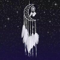 Attrape Rêve Plumes Dream-Catcher Blanc Lune - Bijoux des Lys