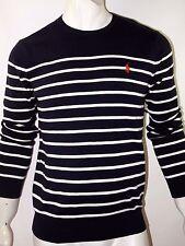 Polo Ralph Lauren mens size xl striped pima sweater color navy blue