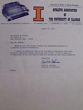 Univ of Illinois Urbana Champaign Official Letterhead Cecil Coleman Auto JSA 17B