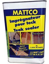 MATTCO - IMPREGNATEUR POUR TECK MATT CHEM BIDON 4L 327M.4 TEAK SEALER