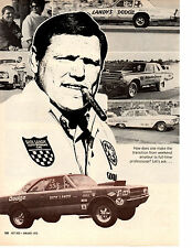 1970 DICK LANDY / PRO STOCK DRAG RACING ~ ORIGINAL 3-PAGE ARTICLE / AD