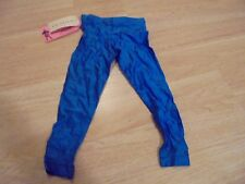 Vintage Girls Royal Blue Satin Comfy Affluence By Loraine Size S Bike Pant