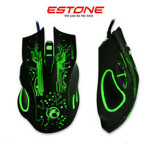 US ESTONE X9 2400DPI Optical 6Buttons Usb Wired PC Gaming Mouse WOW RAZER LOL CF