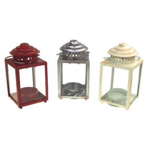 Mini Square Base Tea Light Lantern, 5-Inch