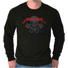 Mechanic Rebel Metal Edgy Rocker Music Gift Long Sleeve Tees Shirts TShirts