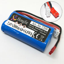 Batterie Li-Ion 7,4 V 2000mAh Piles JST RC helicopter F645 F45 MJX Revell Amewi