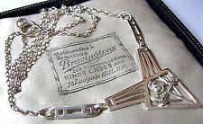 Cosecha firmada de plata esterlina sólida 925 Rennie MacKintosh Collar de estilo Art Nouveau