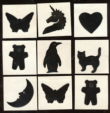 9 Animal Creatures Oil Prism Stickers 1980s Cat Unicorn Penguin 2 Bear Butterfly