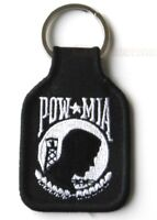 POW MIA SOME STILL GIVE EMBROIDERED KEY RING KEYCHAIN KEYRING 1.75 X 2.75 INCHES