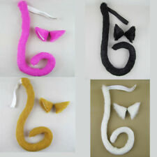 Cute Neko cat ears and tail Anime Cosplay Costume Prop Fancy Dress Accessories