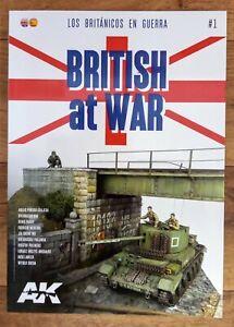 British at War # 1, Softback book AK Interactive, British Armour Modelling