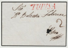 Bolivia ~1850 small piece with TUPISA in red and 2c scripted postage.