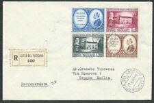 1957 VATICANO FDC COLLEGIO CAPRANICA TIMBRO ARRIVO - BF-3