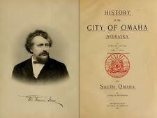 1894 OMAHA City Nebraska, NE, History & Genealogy Ancestry Family Tree DVD B09