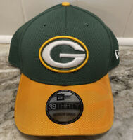 New Era Adult NFL Green Bay Packers 39THIRTY Sideline Flex-Fit Cap Hat M/L