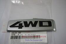 For 2005 ~ KIA Sportage Silver Black Trunk 4WD Emblem Genuine Parts OEM