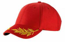 Casquette rouge SPORT marque ATLANTIS VALENTINO grand prix broderie laurier
