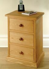 Hampton waxed pine furniture bedside cabinet stand