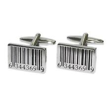 Bar Code Cufflinks Checkout Shop Seller Cruise Party Formal Present Gift Box