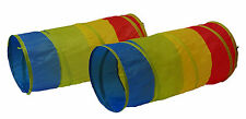 GigaTent Multi Color Indoor/Outdoor 2 in 1 Pop Up Play Tunnel 3-12, Boys & Girls