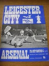 24/02/1975 Leicester City V Arsenale [ Association Cup seconda ripetizione ]. nessuna EVIDENTI DIFETTI, UNL