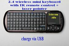 Mini rechargable Keyboard linux android windows laser pointer and back-light