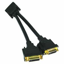 DVI-D Splitter Cable Monitor Lead DVI to 2 x DVI Gold