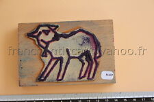 N107 French antique school rubber stamp farm animal sheep 10,5*7cm tampon mouton
