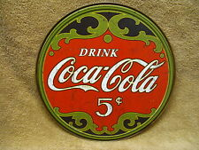Coke Coca Cola Tin Metal Sign Vintage Look Distressed Look Pop Soda Kitchen