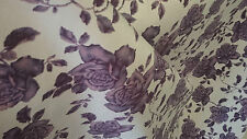 Designer  Upholstery  FAUX SUEDE Fabric , Floral Print  Widht  140cm