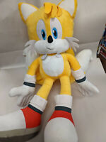 Tails Sonic the Hedgehog Plush Figure Stuffed Doll Backpack Toy Gift Yellow