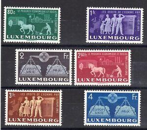 Luxembourg: Serie Completa Di 6 Francobolli Nuovo / N°443/448 Valore