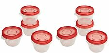 Rubbermaid TakeAlongs 1.2 Cup Twist & Seal Food Storage Container, (Pack of 8)