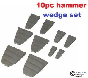 10pc Hammer Metal Wedge Set Lump Sledge Claw Pick Axe Mattock Handle Replacement