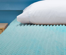 Beautyrest Cooling Gel Memory Foam Mattress Topper 3-Inch Queen Egg-Crate Pad