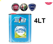 OLIO MOTORE SELENIA MULTIPOWER PURE-ENERGY 5W-40 GAS  4LT