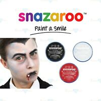 Snazaroo Face & Body Paint Make Up Vampire Dracula Halloween Black White & Red