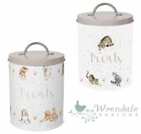 Wrendale Cat or Dog Food Pet Treat Storage Tin Box Container Cute