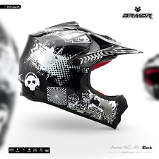 ARMOR AKC-49 black Cross-Helm Kids Kinder-Helm Pocket-Bike Enduro MX XS S M L XL