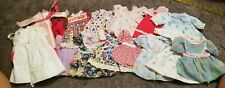 Vintage Doll Clothes Lot 15 Pc Med Doll Dresses Most Handmade #9