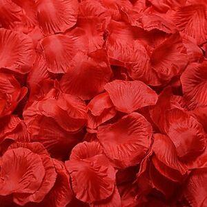 100 500 1000 Red/Red Rose Petals Rose Blossom Deco Valentine's Day Rose Wedding