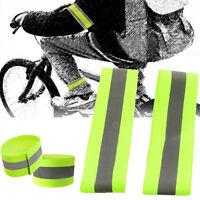 2stk blinken Arm Band reflektierend Gurt Sicherheitsgurt Fahrradfahren Jogg E4T3